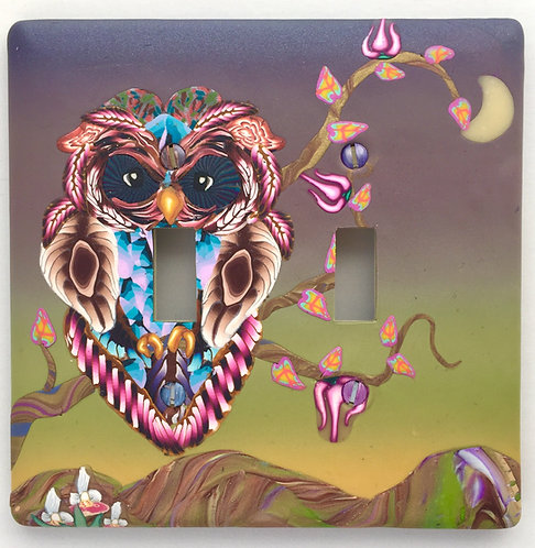 Double Owl Switchplate- PInk