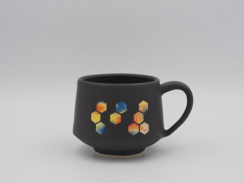Multicolored Mug With Hexagons