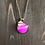 Thumbnail: Believe Charm Pink Alcohol Ink Pendant Necklace