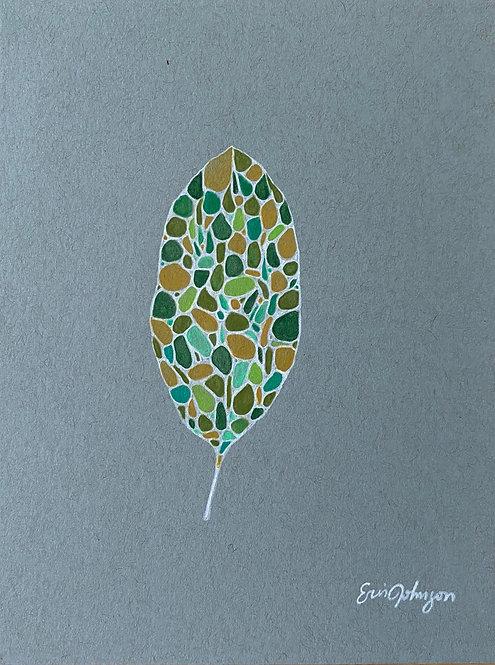 Lone Green Leaf