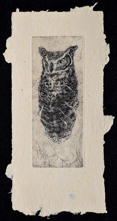 Gestalt Owl III on Handmade Paper