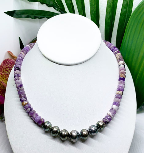 Tahitian Pearl & Amethyst Necklace