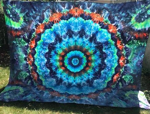 King-Size Mandala Flat Sheet