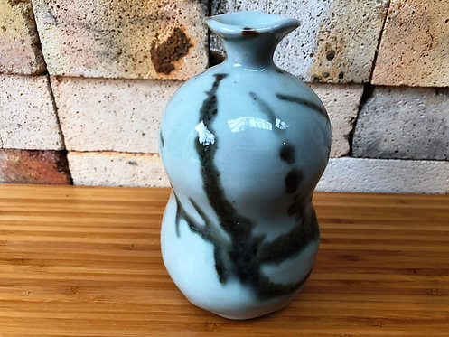 Shino Gourd Vase
