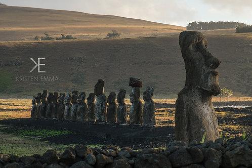 Golden Hour Moai