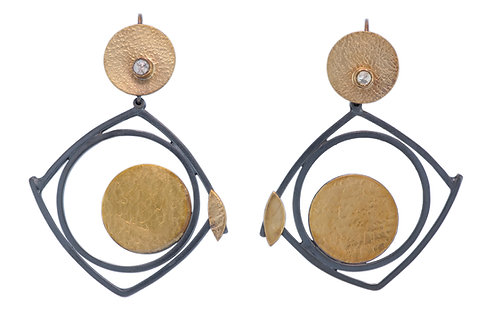Circles within a Square Earrings