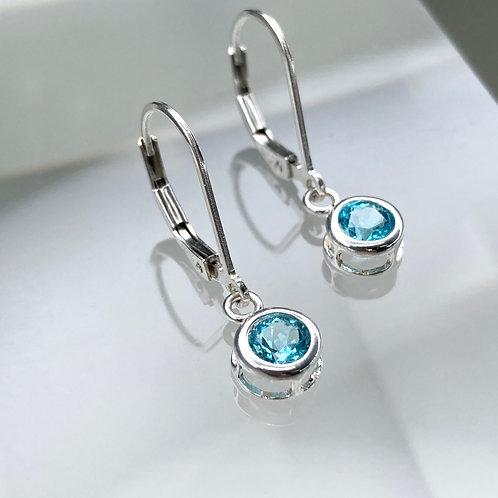 Perfect little Blue Topaz Earrings