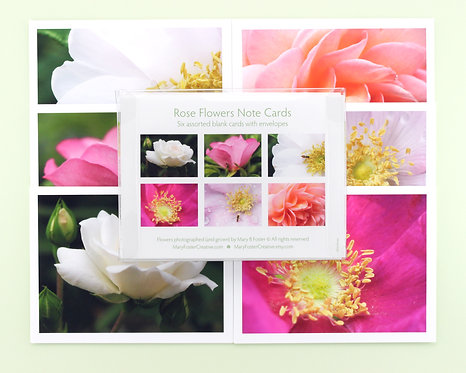 Rose Flowers Photo Note Cards