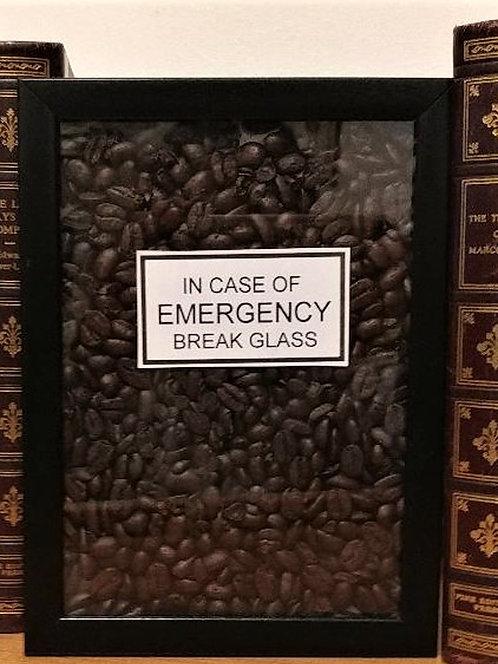"Real ""COFFEE BEANS"" Shadowbox (no hammer)"