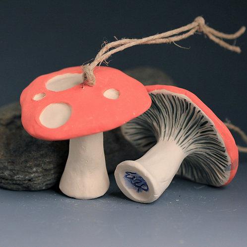 Red Russula Mushroom Ornament