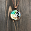 Thumbnail: Hibiscus Flower Hand-painted Alcohol Ink Pendant Necklace