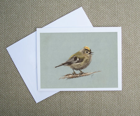 Greeting Card, Goldcrest