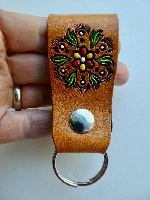 Medalion Floral Snap On Keyring