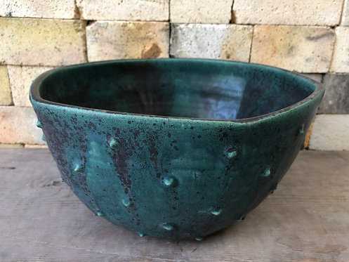 Spikey Turquoise Hexagon Bowl