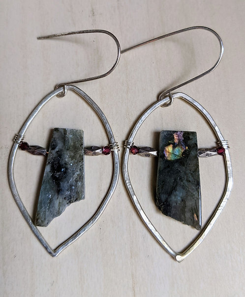Labradorite Marquis Earrings