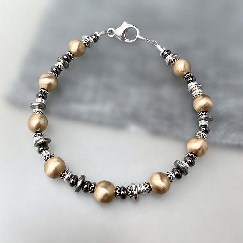 Mixed Metals Unisex Bracelet
