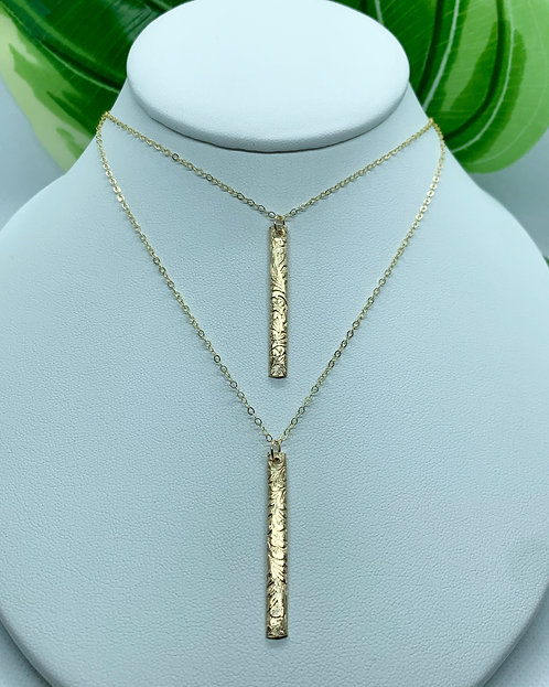 Heirloom Bar Necklace- Verticle