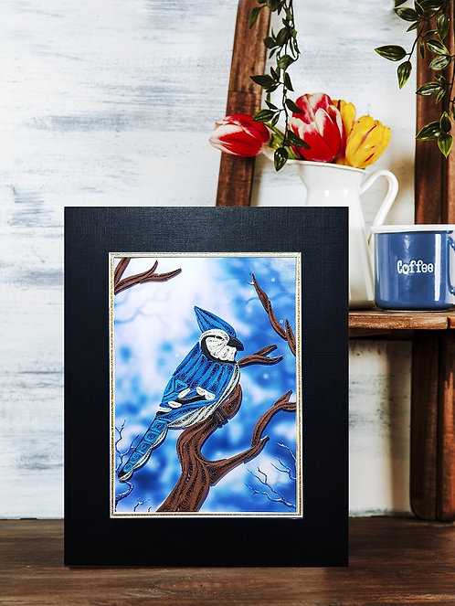 Quilling Matted - Blue Jay