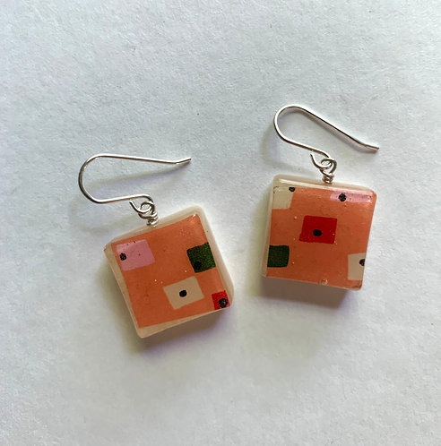Washi Mod Pink Squares Small