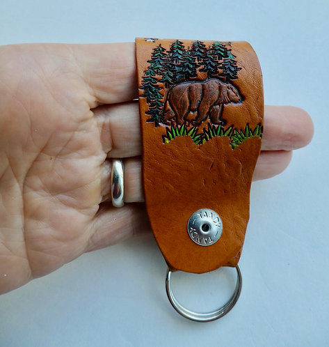 Bear Snap On Keyring