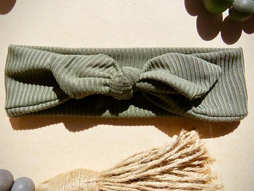 Earthy Green Elastic Headband