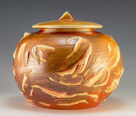 Porcelain Slip Lidded Jar