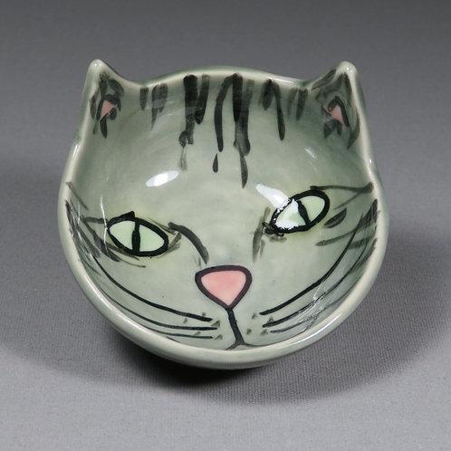 Small Grey Tabby Cat Bowl