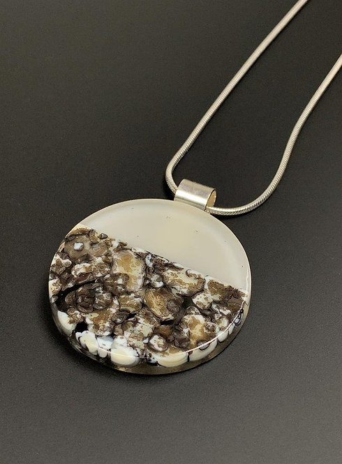 Glass Pebble Necklace