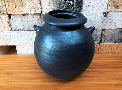 "Metallic Vase with ""Arms"""