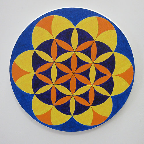 Flower of Life Hex Sign