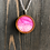 Thumbnail: Pink Daisies Hand Painted Pendant Necklace