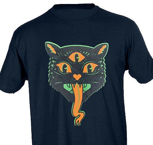 T-Shirt Spooky 3-Eyed Cat