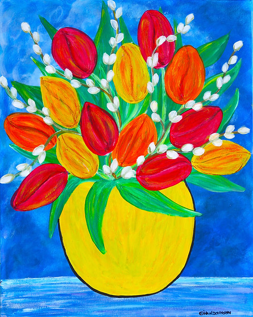 """Tulips in the spring breeze"""