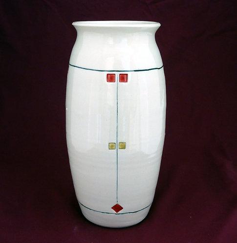 Prairie Vase Red & Black