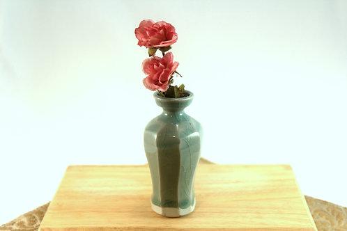 Celadon Sliced Bud Vase