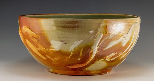 Porcelain Slip Serving Bowl