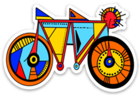 Tandem Bike Sticker