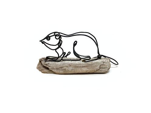 Beaver Wire Sculpture