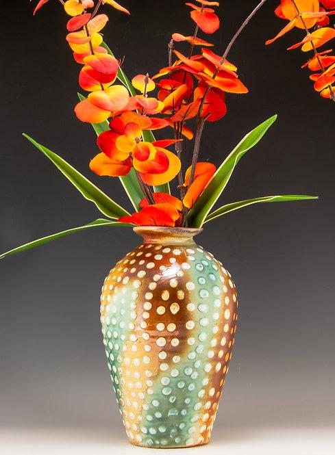 Porcelain Dotted Vase