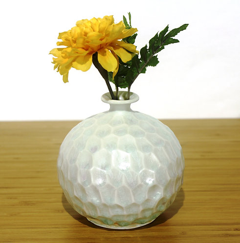 31 Bluish-White Carved Vase