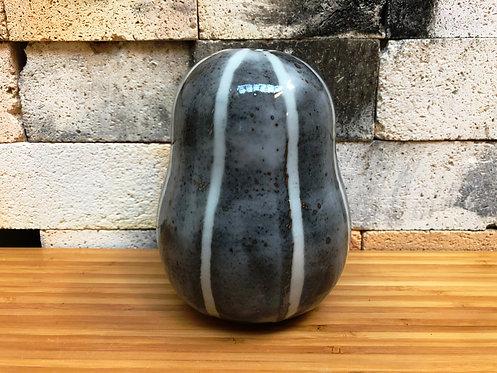 Shino Striped Gourd Vase