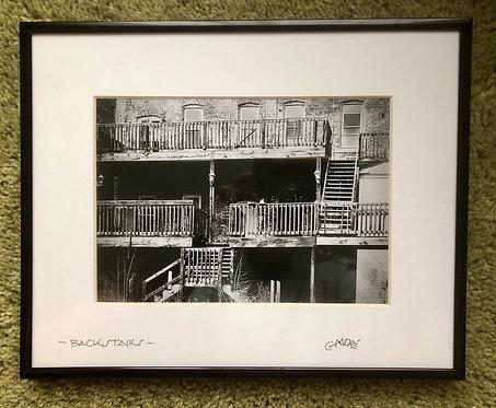 Backstairs (framed)