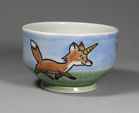 Cute Cryptid Foxicorn Bowl