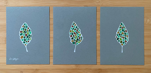 Green Leaves Triptych