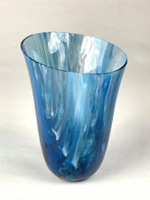 Blue Swirl Vessel