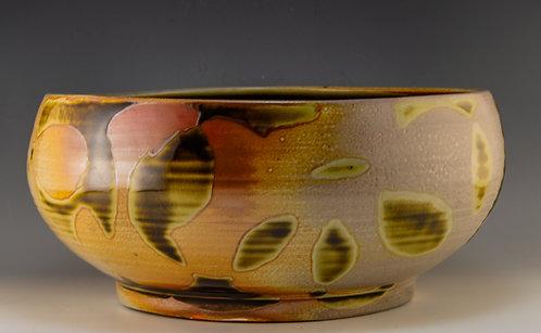 Amber Leaf Serving Bowl