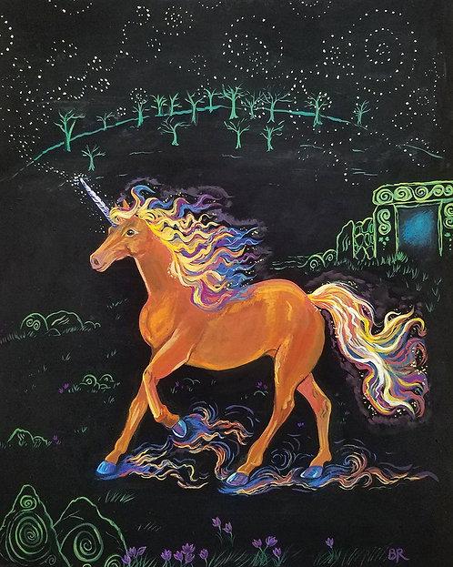 Celtic Unicorn - Original Painting