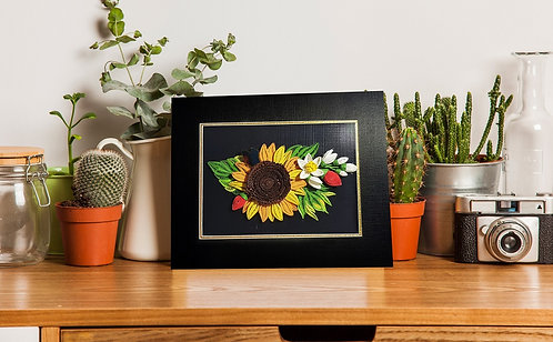 Quilling Matted - Sunflower