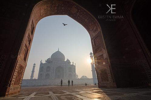 Taj through the Arches