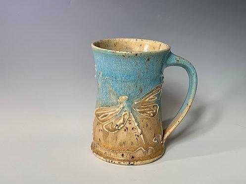 Blue & Tan Dragonfly Mug